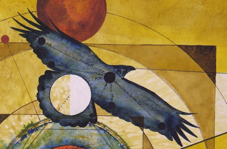 Abstract Flight of the Raven
