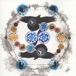 Abstract Flight of the Raven PrinterReady