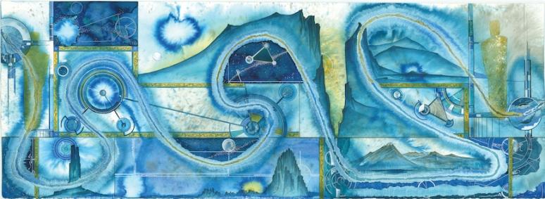 Blue Road 18x48 original sized prints and 13x19 prints